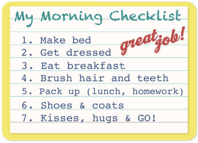 free printables family checklists make going back to school a breeze