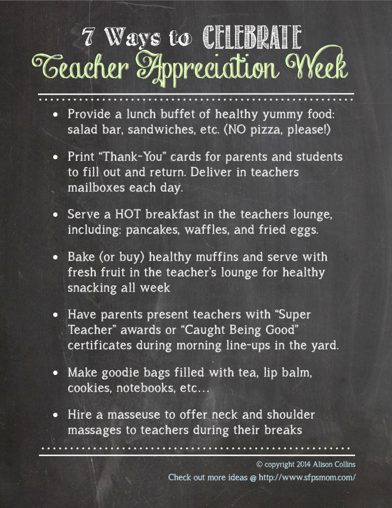7 ways Teacher Appreciation