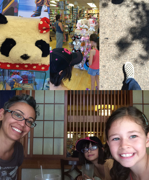 Me and the girls explore Little Tokyo on our LA adventure!