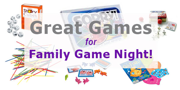 25 Great Games for Family Game Night