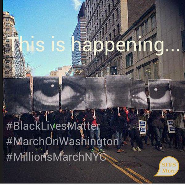 This is Happening… #BlackLivesMatter #MarchOnWashington #MillionsMarcNYC
