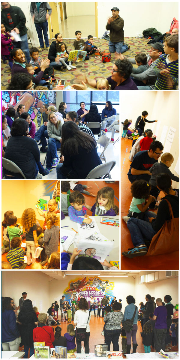 "This past Dr. Martin Luther King, Jr. Holiday San Francisco families engaged in a ""Tiny Teach-In"" to talk about race and ways they can get involved in creating positive change in our schools, neighborhoods and communities."