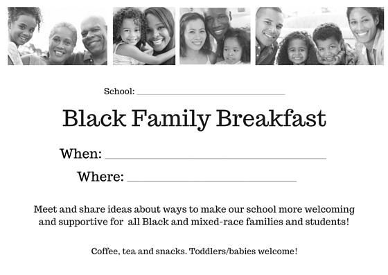 SFPSMom Black Family Breakfast Invite