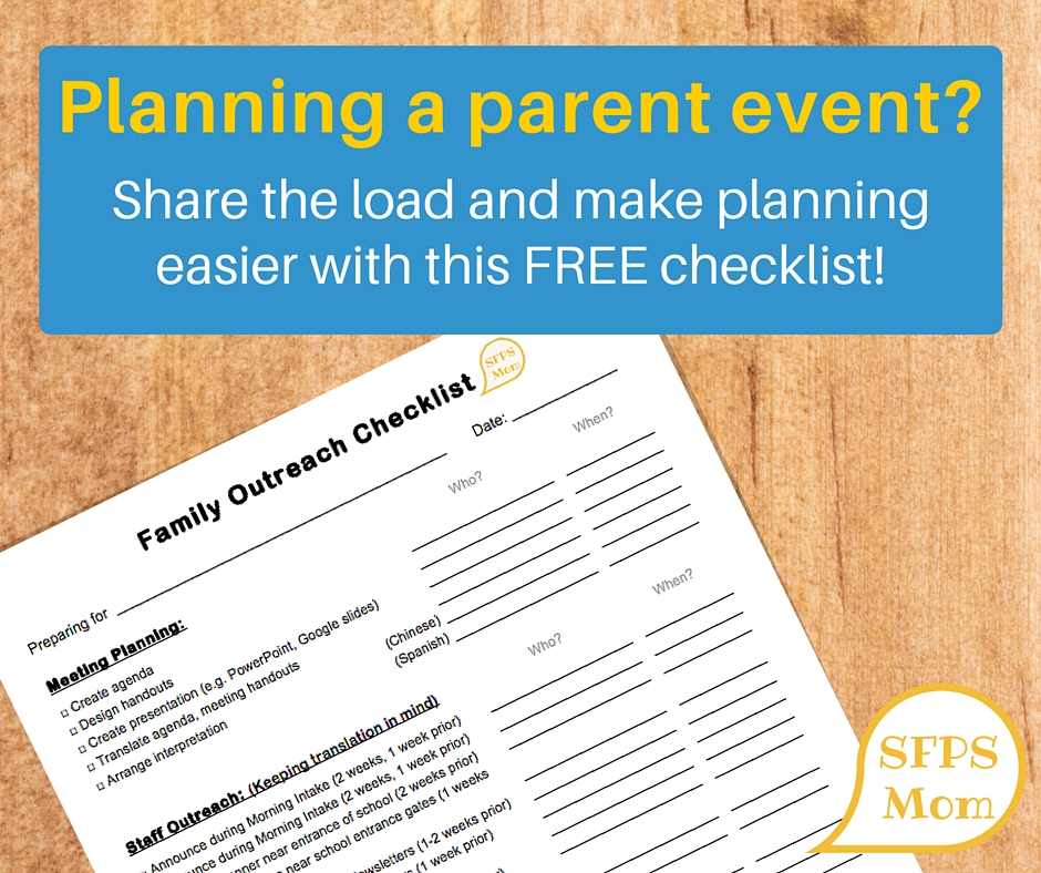 family outreach checklist