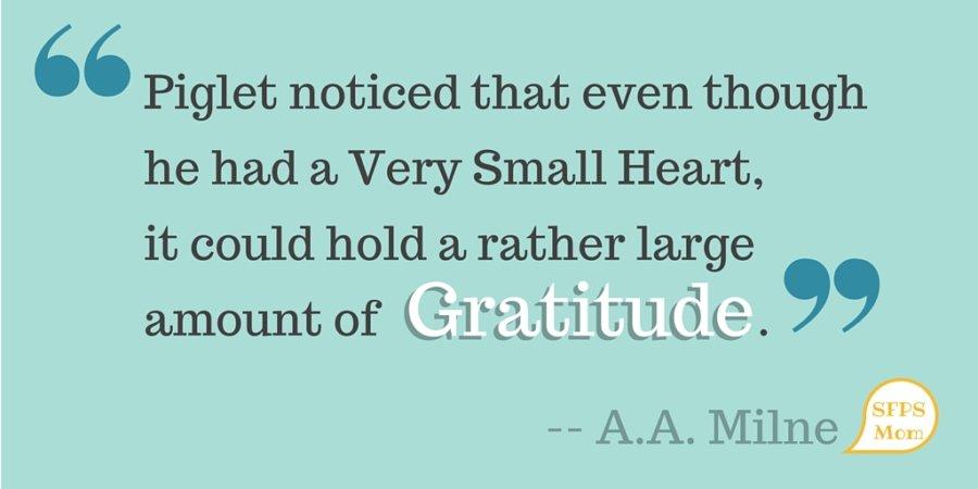 Teaching Gratitude…