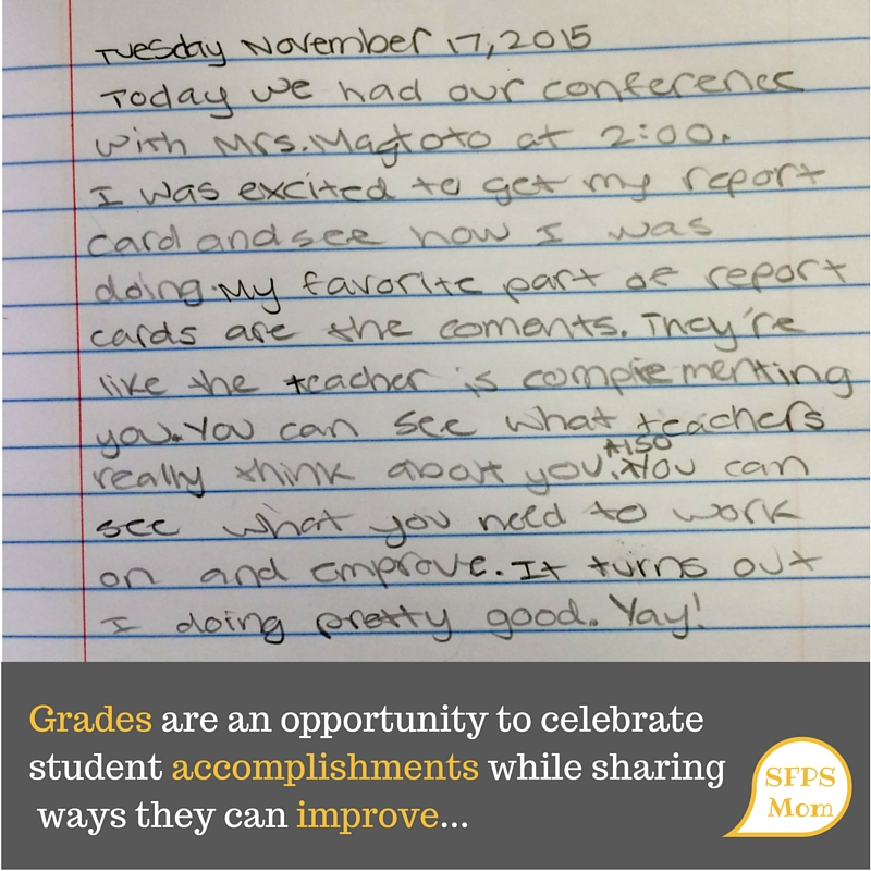 """My favorite part of report cards…"""
