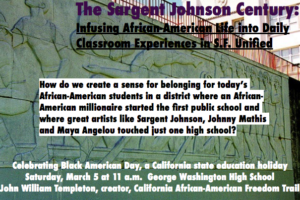 Tomorrow! Learn about Black San Franciscan's contributions to American History