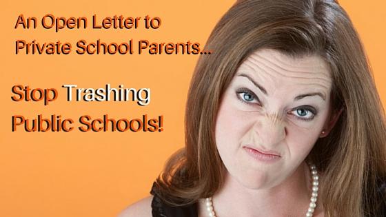 Stop Trashing Public Schools
