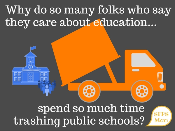 "Who profits from a ""broken public school"" narrative?"